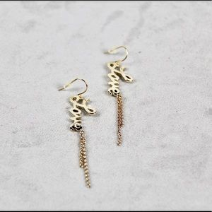 Jewelry - Words: Peace, Love, Hope or Faith Earrings